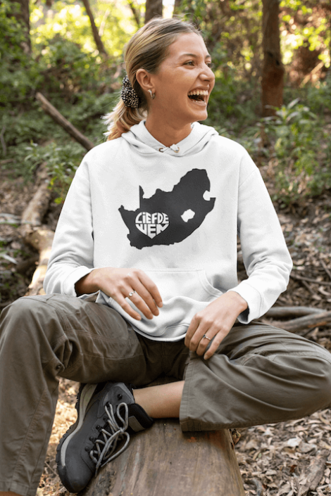 Wit hoodie - RSA swart